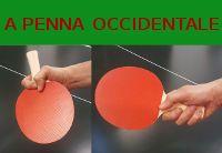 Due principali metodi diimpugnatura racchetta pingpong - penna e occidentale